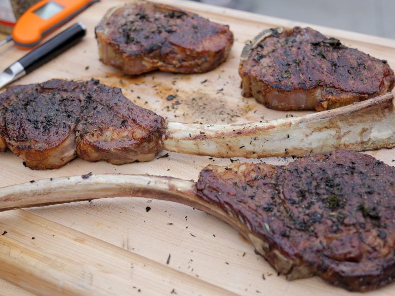 Andrew Zimmern's recipe for Tomahawk Steaks