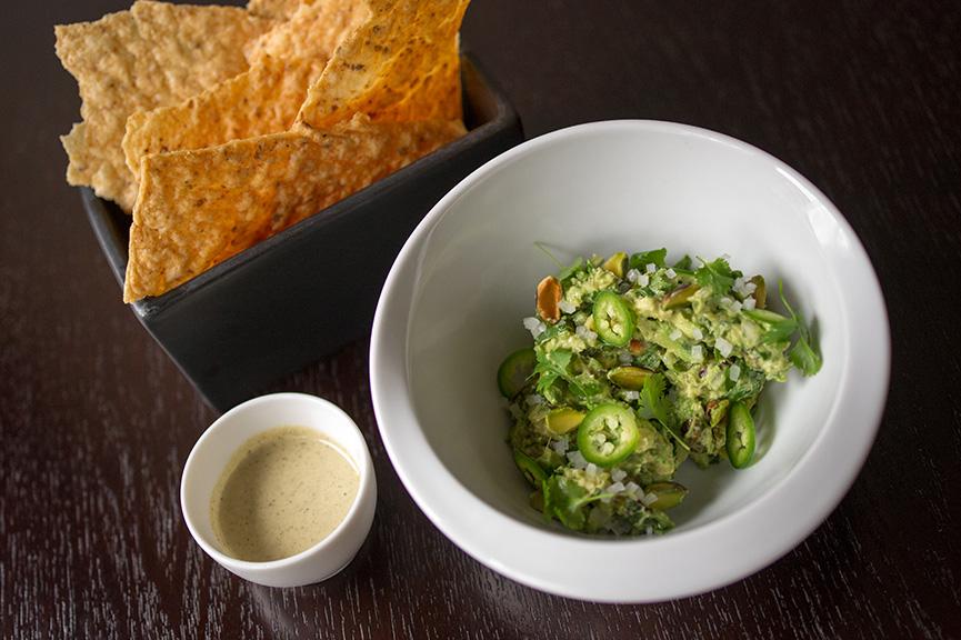 Alex Stupak's Smoked Cashew Salsa & Guacamole with Pistachios