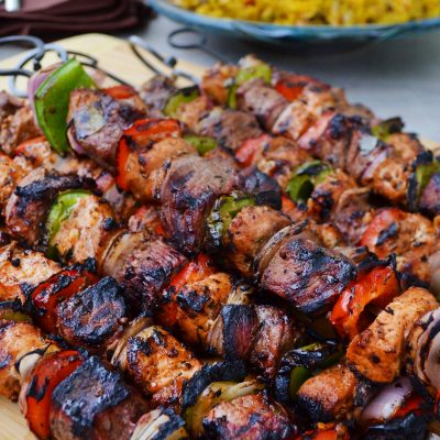 Andrew ZImmern's Shish Kebabs and Pilaf
