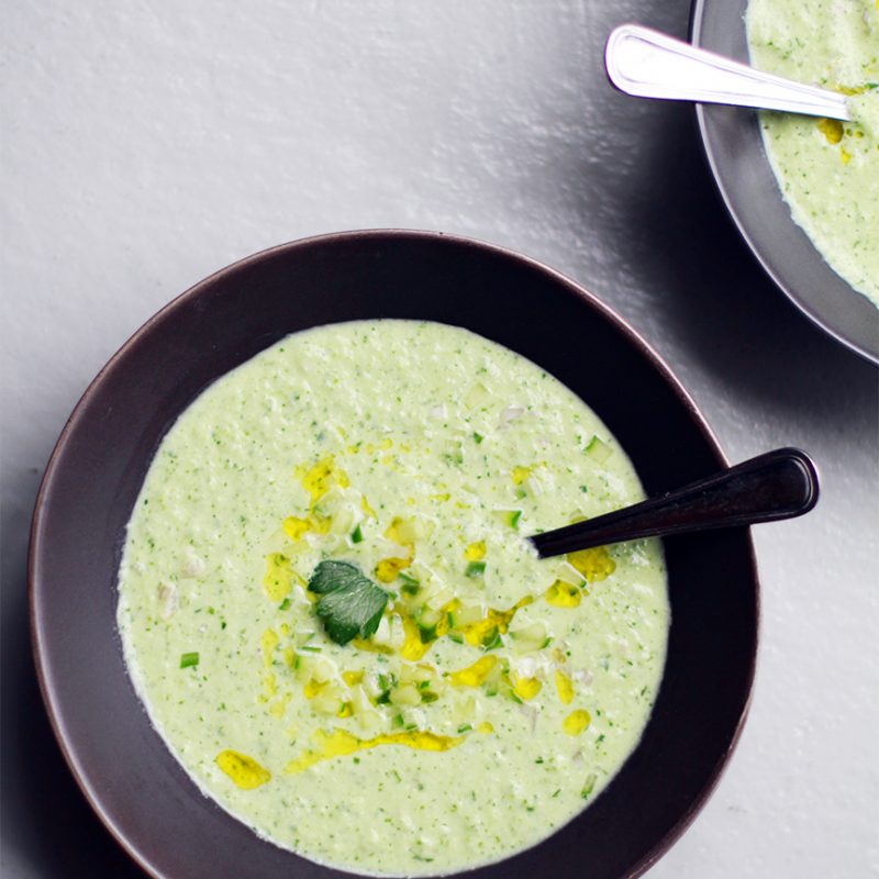 Andrew Zimmern's Cold Cucumber Soup|Andrew Zimmern's Recipe for Cold Cucumber Soup|Andrew Zimmern's Cold Cucumber Soup