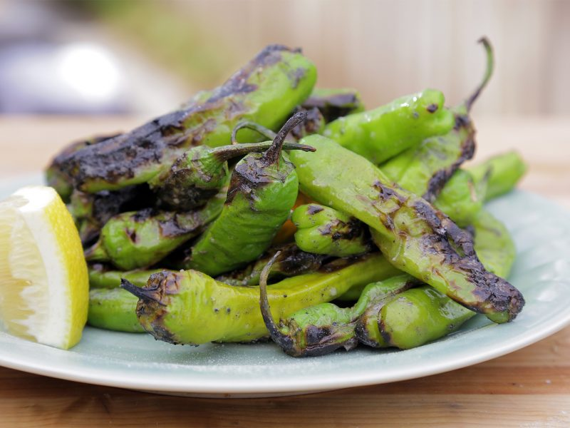 Andrew Zimmern Recipe Blistered Shishito Peppers 