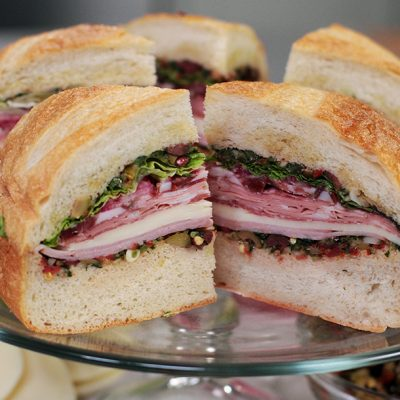 Andrew Zimmern Recipe Muffuletta Sandwich