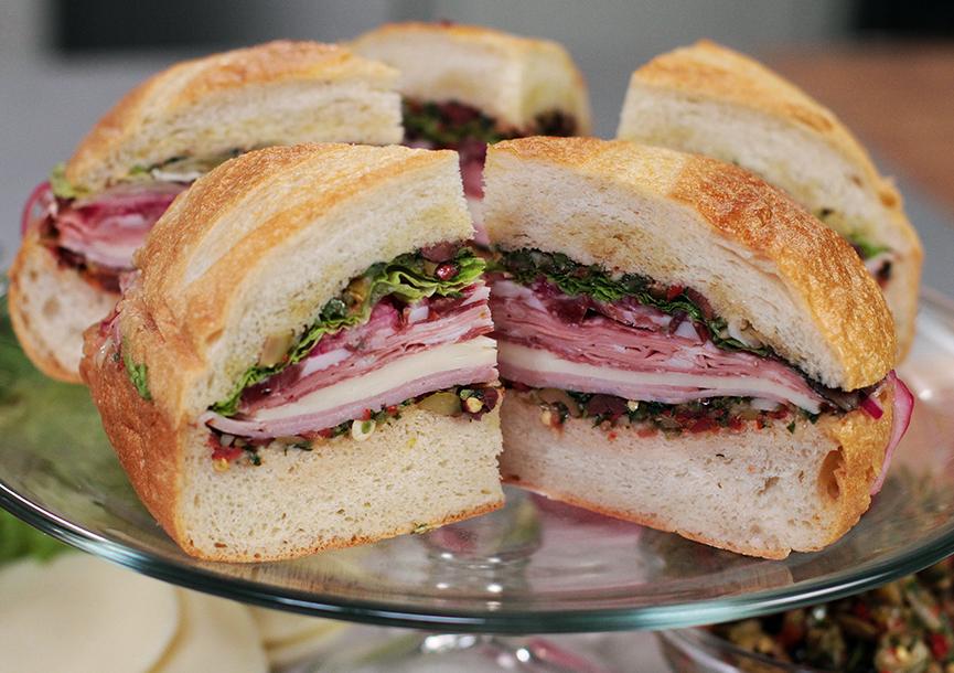 Andrew Zimmern Cooks: Muffuletta Sandwich – Andrew Zimmern