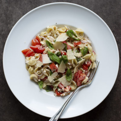 Andrew Zimmern Recipe Pasta with Mozzarella, Basil and Tomatoes
