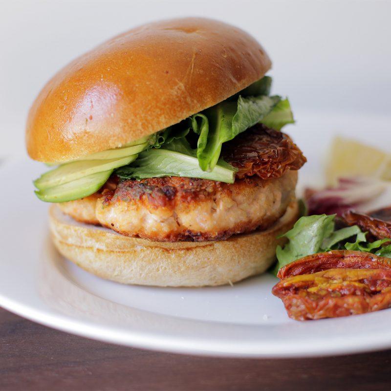 Andrew Zimmern Recipe Salmon Burger|