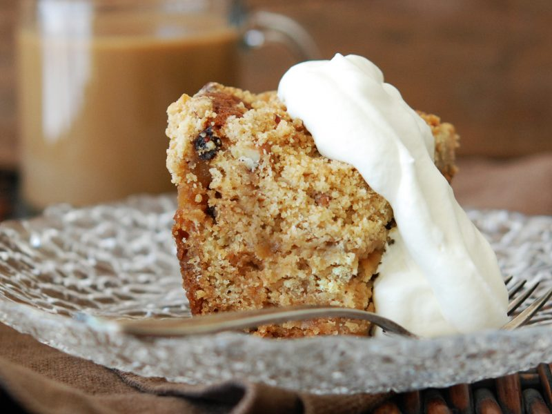 Andrew Zimmern's Apple Raisin Crumb Cake