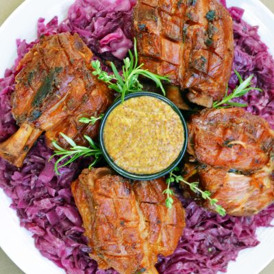 Andrew Zimmern's Bavarian Beer Hall Pork Shanks