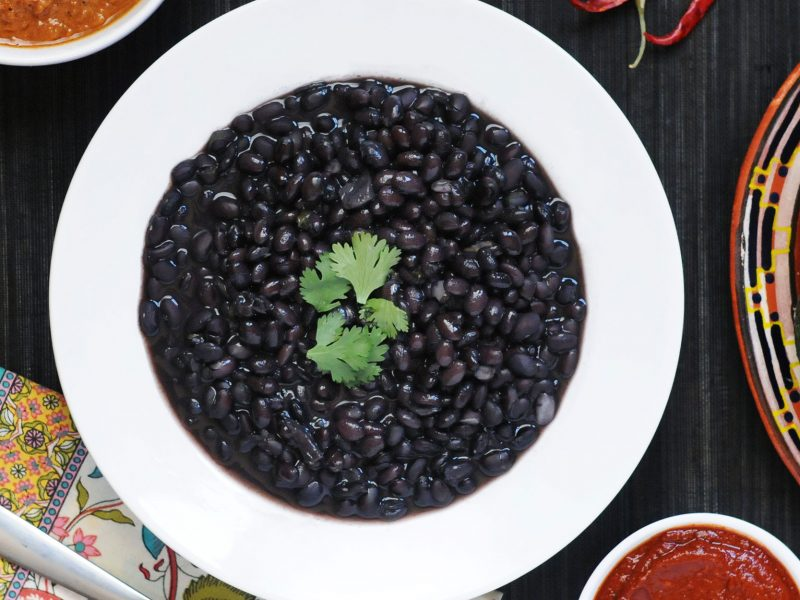 Andrew Zimmern's recipe for black beans
