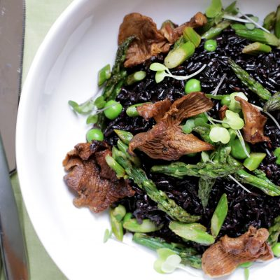 Andrew Zimmern's Black rice risotto
