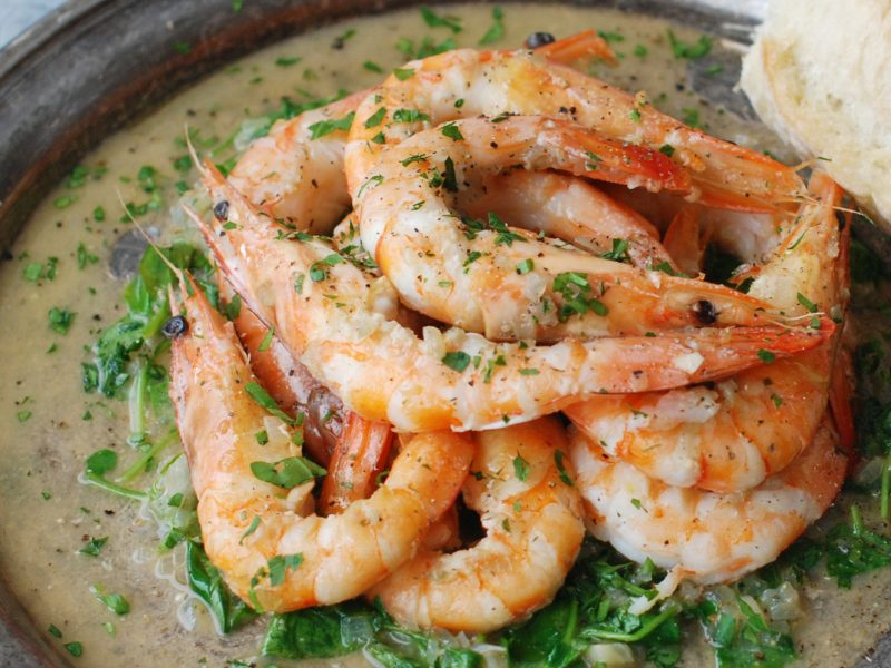 Andrew Zimmern's Butter Poached Shrimp