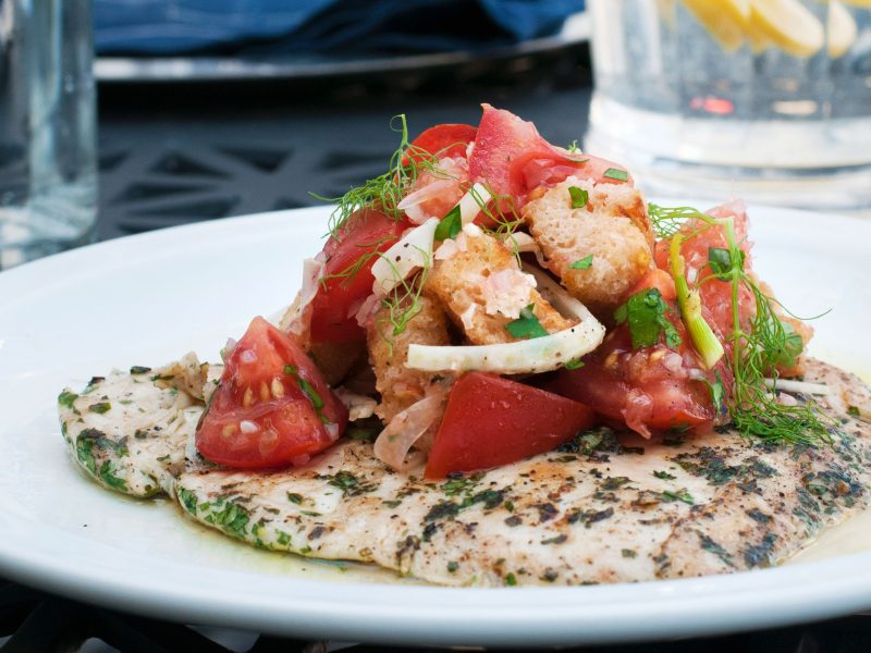 Andrew Zimmern's Recipe for chicken paillarde with panzanella