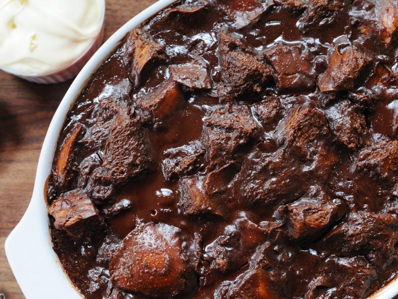 Andrew Zimmern's Chocolate Bread Pudding