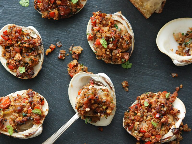 Andrew Zimmern's Clams Casino