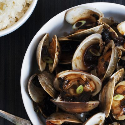 Andrew Zimmern's Clams with Black Bean Sauce