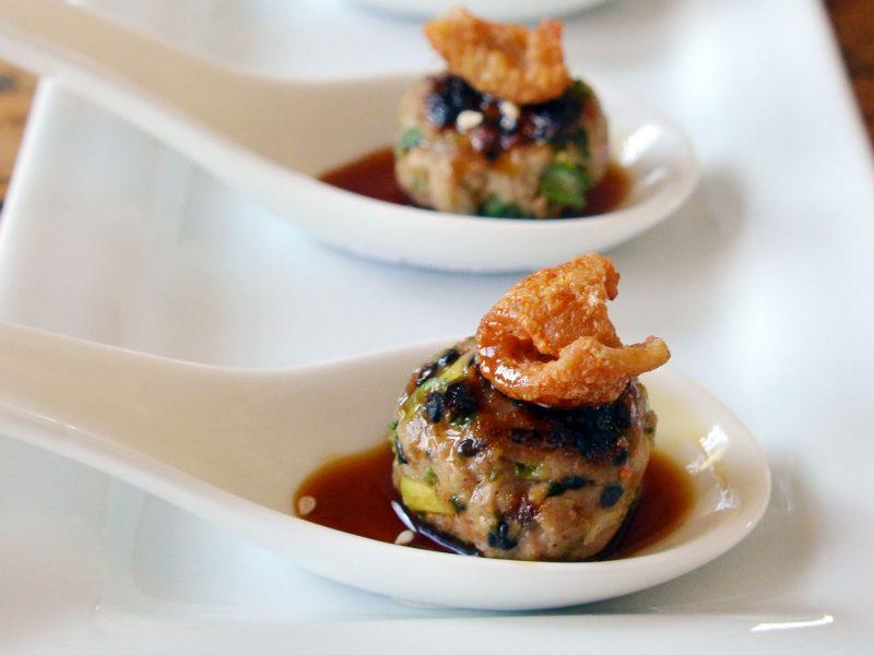 Andrew Zimmern's Duck Tsukune Meatballs