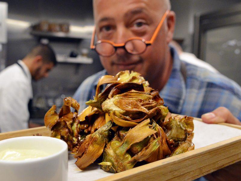 Andrew Zimmern's Fried Artichokes