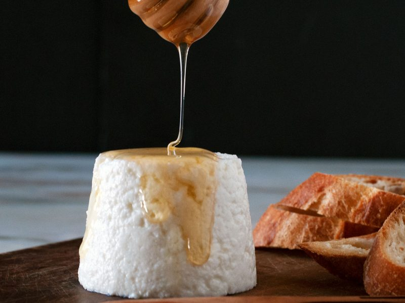 Andrew-Zimmern's-Goat-Cheese-with-Honey
