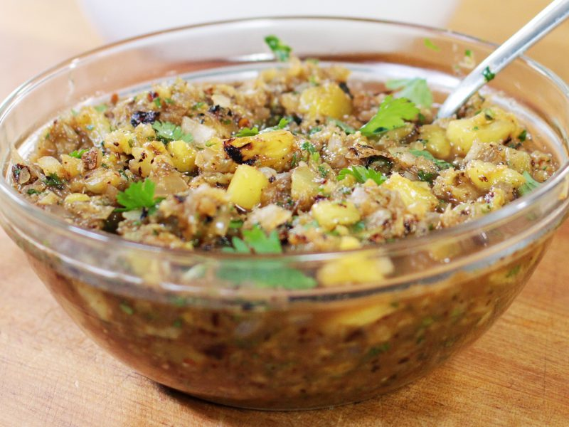 Andrew Zimmern's Grilled Pineapple Salsa