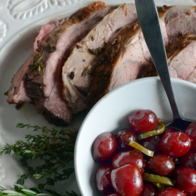 Andrew Zimmern's Leg of Lamb with Pickled Cherries