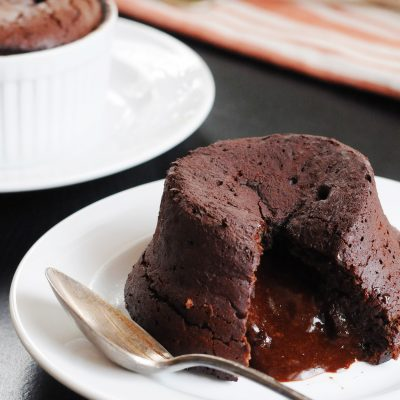 Andrew Zimmern's Molten Chocolate Souffle Cake