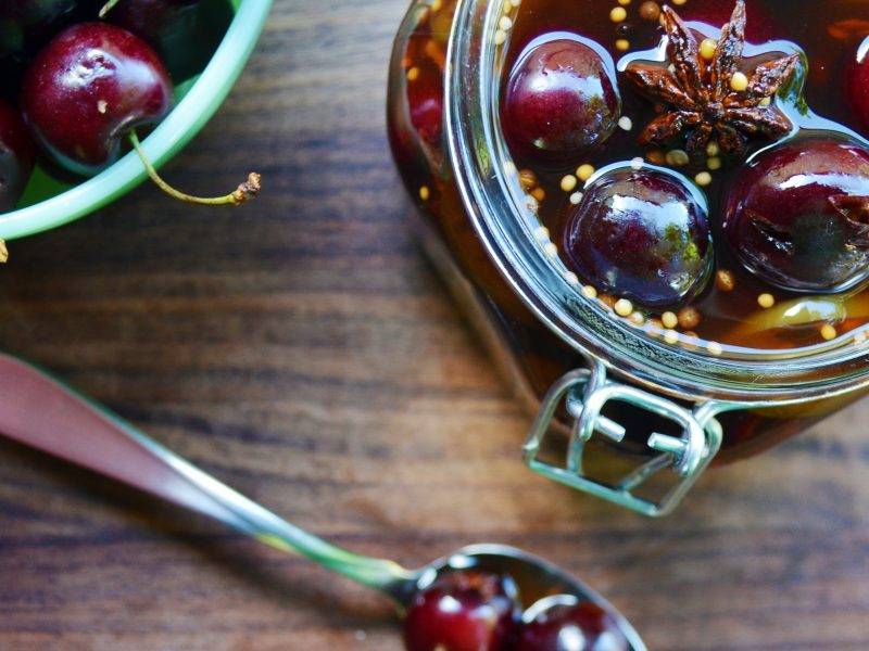 Andrew Zimmern's Pickled Cherries
