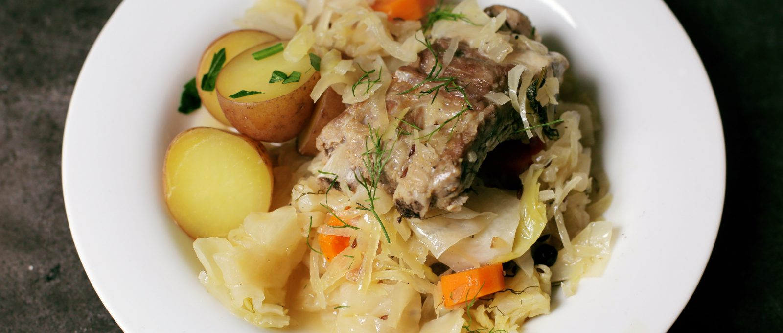 Andrew Zimmern's Pork Ribs with Sauerkraut