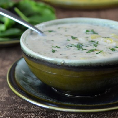 Andrew Zimmern's Potato Leek Soup