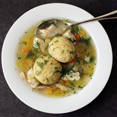 Andrew Zimmern's Recipe Matzoh Ball Soup