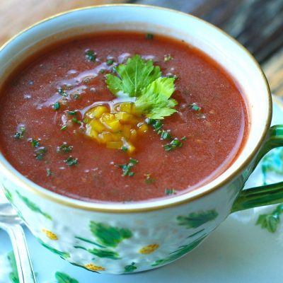 Andrew Zimmern's Recipe for Gazpacho