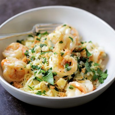 Andrew Zimmern's Shrimp Scampi Recipe