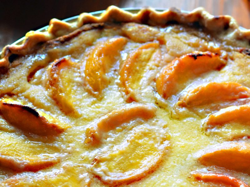 Andrew Zimmern's Sour Cream Peach Pie