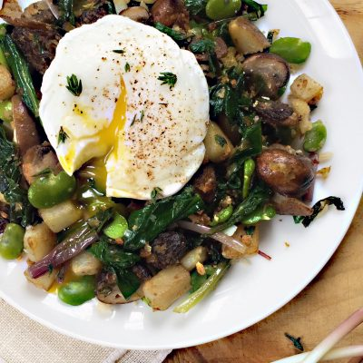 Andrew Zimmern's Spring Vegetable Hash