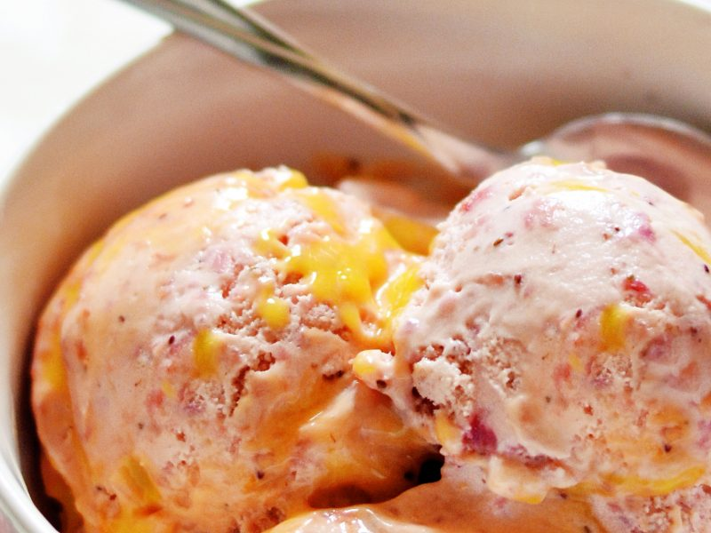 Andrew Zimmern's Strawberry Lemon Curd Ice Cream