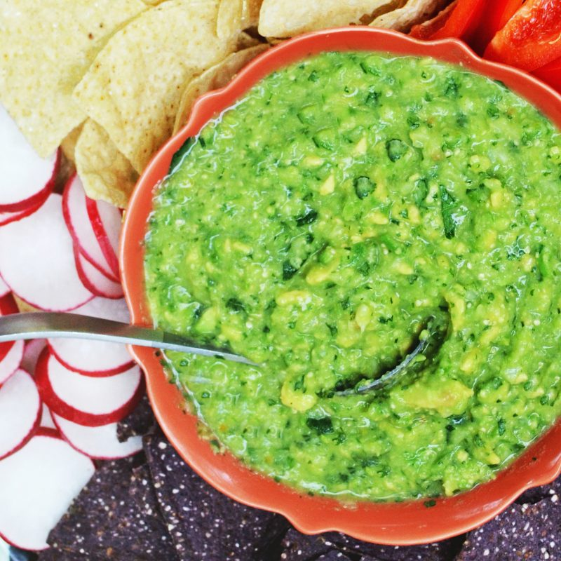 Andrew Zimmern's Tomatillo-Avocado Salsa