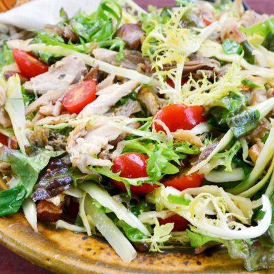 Andrew Zimmern's pheasant confit salad