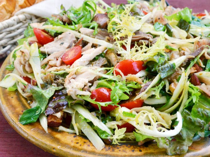 Andrew Zimmern's pheasant confit salad