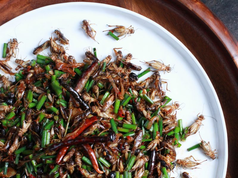 Andrew Zimmern's recipe for wok-tossed crickets