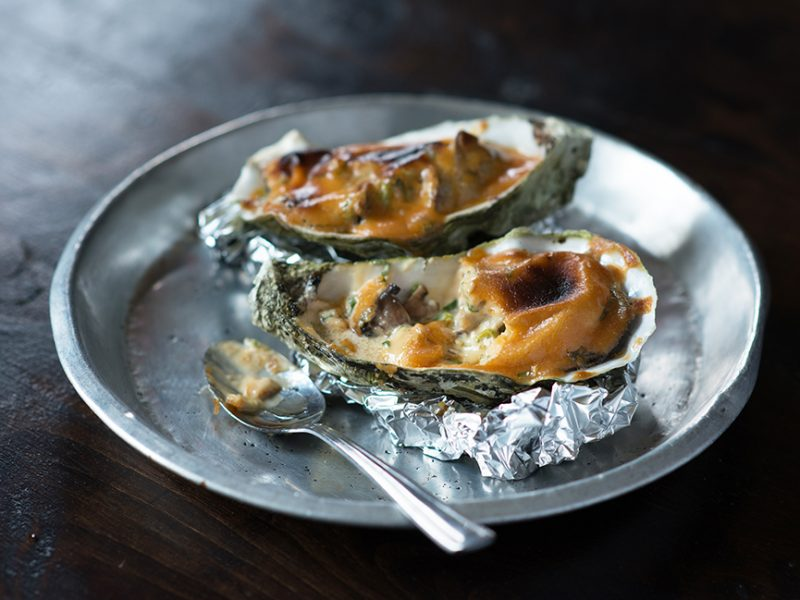 Baked Oysters with Marmite|Baked Oysters with Marmite