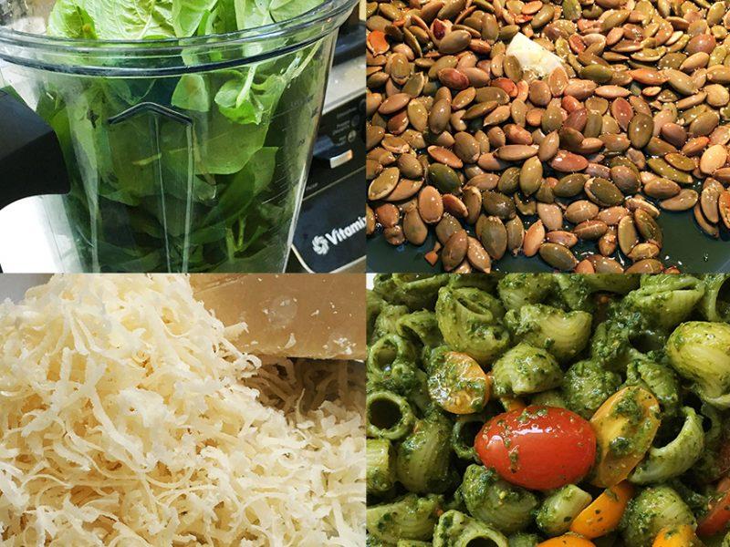 Basil Peso with Pumpkin Seeds|Pesto with Pumpkin Seeds|Pesto making|Pumpkin seed pesto|Pesto pasta
