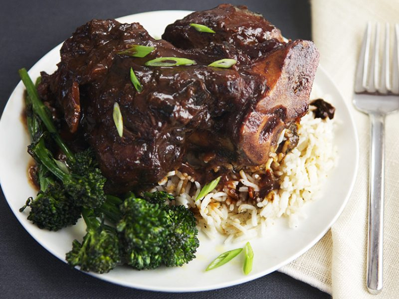 Braised Pork Shanks with Miso|
