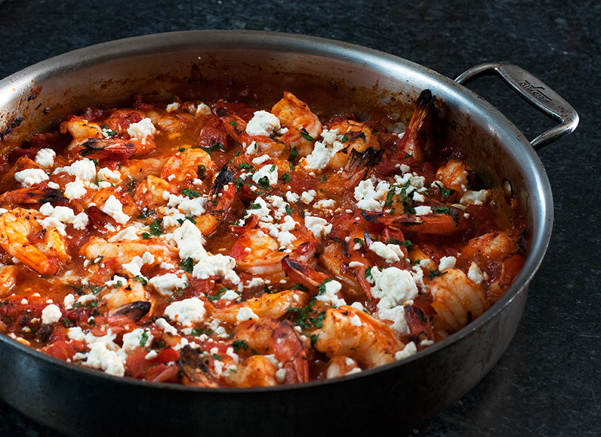 Broiled Shrimp with Tomatoes & Feta