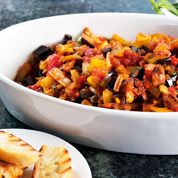 Caponata with Grilled Crostini