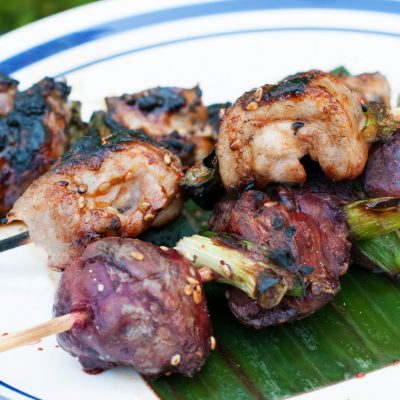 Andrew Zimmern's Chicken Thigh and Liver Yakitori