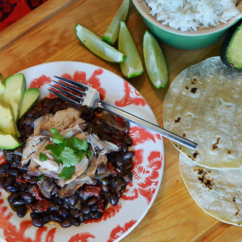 Chicken & Black Beans with Tortillas