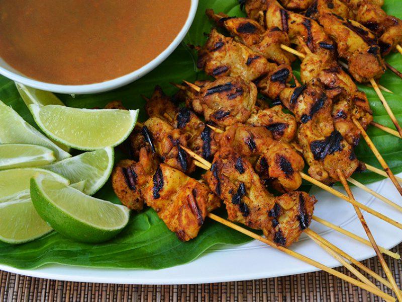 Chicken Satay with Peanut Sauce|Chicken Satay with Peanut Sauce||Chicken Satay