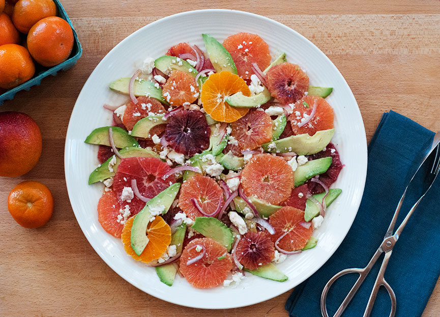 Citrus, Avocado & Feta Salad
