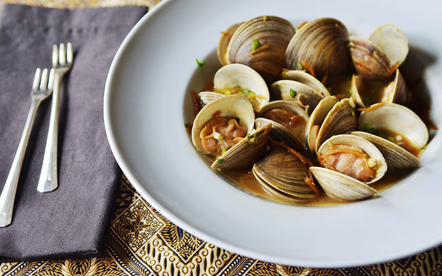 Clams with Soy Butter