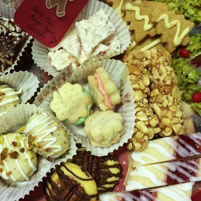 |Pfeffernusse Cookies|Biscochitos|Chocolate Chip Cookie|Cream Wafers|Christmas Wreaths|Crispy Sugar Cookies|Russian Tea Cakes|Cookies||Ginger Cookies|