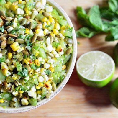 Corn and Green Tomato Salad