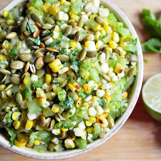 Corn & Green Tomato Salad